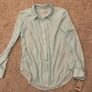 Nanette Lepore Mint Green Blouse NWT Small